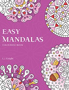 Easy Mandalas Coloring Book by L.J. Knight